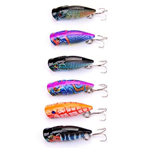 Lot 8pcs Crank Plastic Fly Fishing Lures Bass CrankBait Baits Tackle 7cm//9.6g