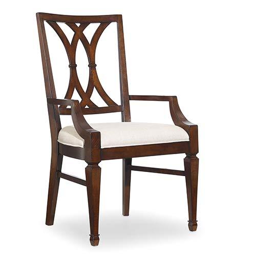 Hooker Furniture Palisade Splat Back Arm Dining Chair in Walnut by Hooker Furniture