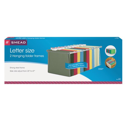 Smead Hanging File Folder Frame, Letter Size, 2 Pack (64870)