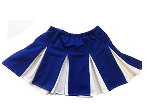 Azul y Blanco Plisado Falda de animadora Icebox Ice Box–Disfraz adulto