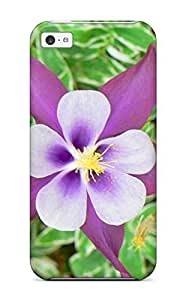 Anti-scratch And Shatterproof Columbine Flower Phone Case For Iphone 5c/ High Quality Tpu Case