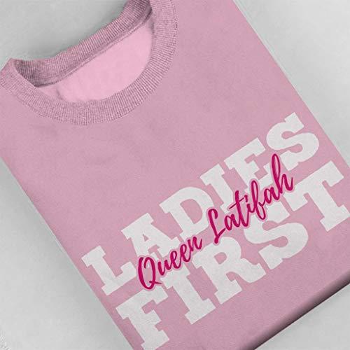 Women's Coto7 Sweatshirt Pink Light Ladies Latifah First Queen gxwwv7BPqT