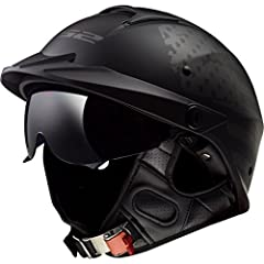 The LS2 Rebellion is a motorcycle half helmet that stands alone and charts its own course, just like you. We set out to revolutionize the half helmet market. We started with a stylish shell made of our high performance, lightweight Kinetic Po...