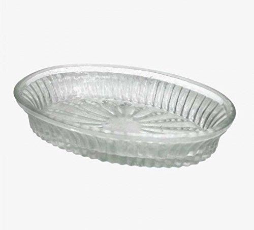 Q&Q 1362370 Oval Glass Soap Dish or Trinket Dish