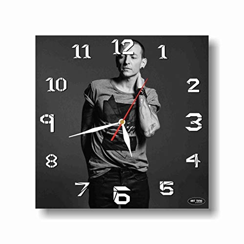 Bennington Clock (ART TIME PRODUCTION Linkin Park- Chester Charles Bennington 11'' Handmade Wall Clock - Get Unique décor for Home or Office – Best Gift Ideas for Kids, Friends, Parents and Your Soul Mates)