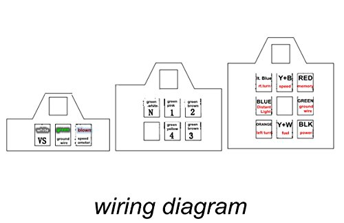 universal digital speedometer motorcycle wiring diagram: audew universal  lcd digital backlight motorcycle odometer rh: