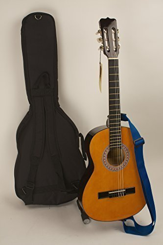 Quality 3/4 Size 36 Left Handed Nylon String Guitar, Strap, Picks & Case Great For Children 7-10 & Adults Seeking A Smaller Easy Playing Guitar. Completely Set-up In My Shop For Easy Play Free U.S. Shipping Guitar Works Inc.