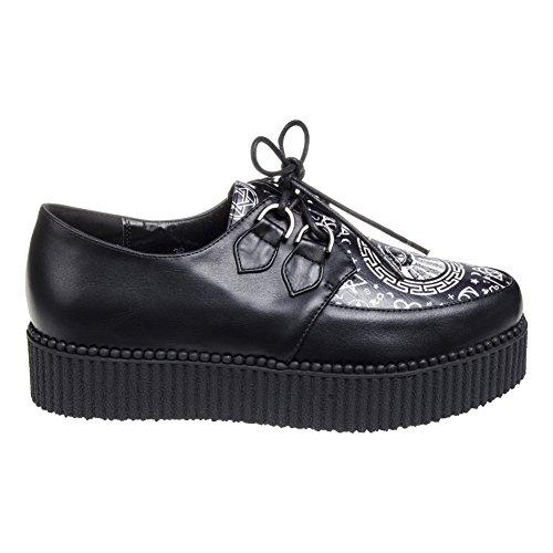 Banned Morgana Noir Magic Chaussures Baskets Plateforme Creeper (Noir)