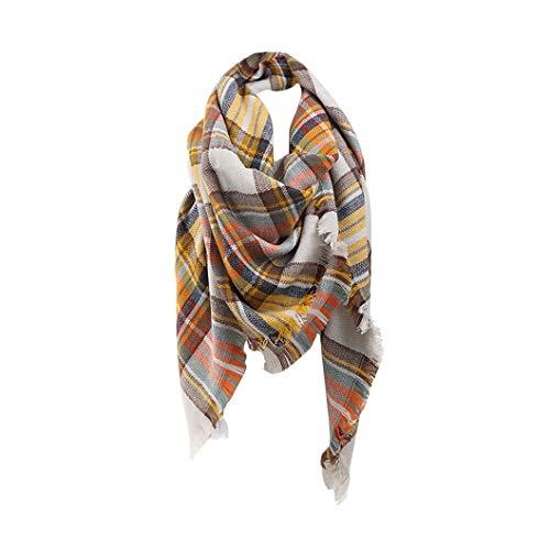 Jacyren Dames sjaal geruite sjaal geruit warme wintersjaal herfstsjaal dekensjaal geruit tartan strepen plaid patroon…