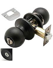 Wolfpack Deurknop met slot voor de badkamer, zwart