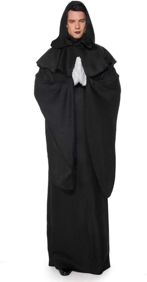 YyiHan Cosplay Disfraz, Oscuro Mal espíritu Manto Negro Demonio ...