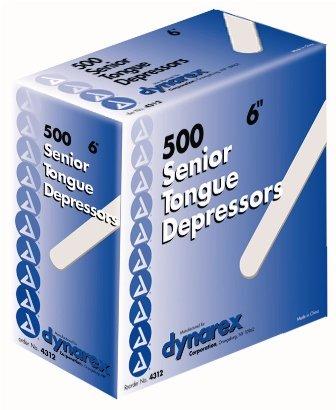 Dynarex Tongue Depressors - Dynarex 4312 Tongue Depressor N/S Sr 6