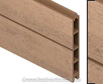Gut gemocht Amazon.de: bambus-discount.com Einzelprofil WPC Zaun, Mandel mit CO82