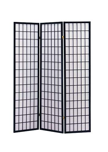 - ACME 02284 71-Inch-High Black Wood Folding Screen