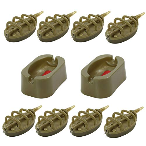 Croch Inline Method Feeders Set with Quick Release Moulds for Carp Fishing Bait Holder Tool