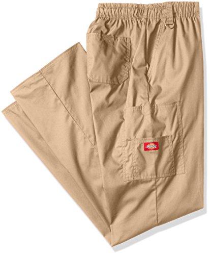 Dickies Mens Big And Tall Eds Signature Zip Fly Pull On Scrub Pant  Dark Khaki  Xxx Large Tall