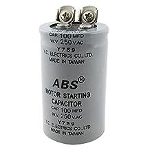 SODIAL(R) ABS 100MFD 100uF 250V AC Motor Starting Capacitor