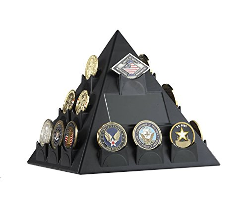 STRATCOIN-Pyramid-Shaped-Rotatable-Military-Challenge-Coin-PokerCasino-Chip-Display-BLACK