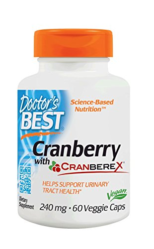Doctor's Best Cranberry with Cranberex Urinary Tract Health Veggie Caps, 60Count