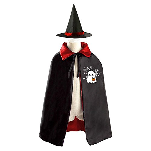 Halloween Costume Children Cloak Cape Wizard Hat Cosplay Ghost Trick or Treat For Kids Boys Girls