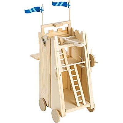 Pathfinders Medieval Siege Tower with Catapult Wooden Kit: Toys & Games
