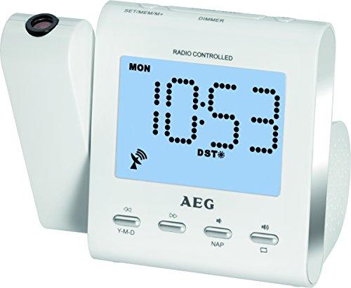 AEG MRC 4122 F Funkuhrenradio mit Projektion weiß