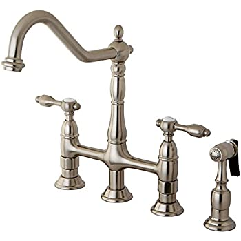 Kingston Brass Ks1275albs Heritage Kitchen Faucet 8 3 4 Oil