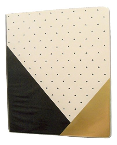"Carolina Pad Studio C 1"" O-Ring Vinyl Binder with Pockets ~ Gold Digger (Positively Stunning; 10"" x 11. 5"")"