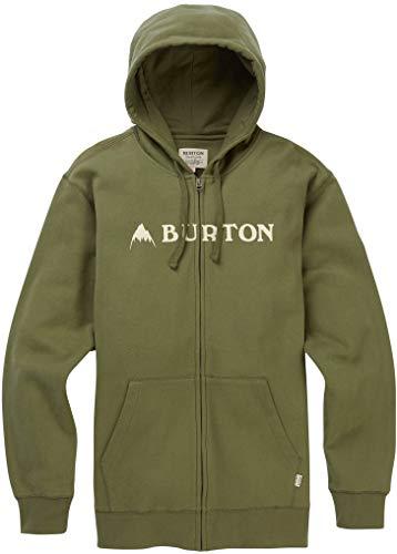 Burton Men's Horizontal Mountain Full-Zip Hoodie, Dusty Olive, X-Large - Jacket Fleece Hooded Burton