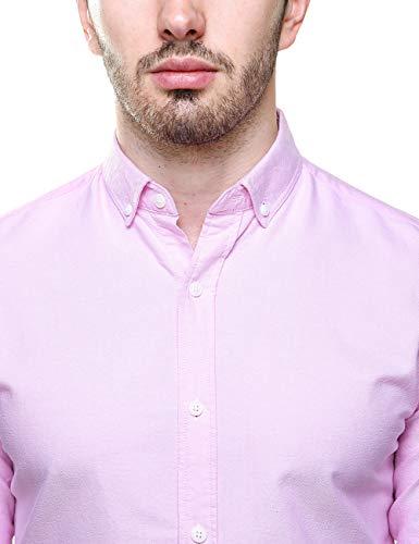 Piero Lusso Men's Long Sleeve Regular Fit Casual Sold Colour Dress Shirt 7