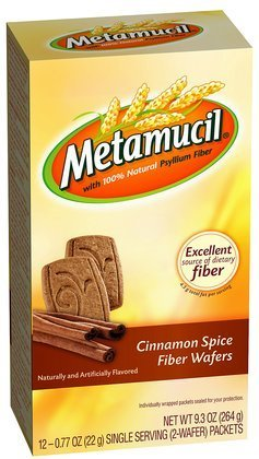 - Metamucil Cinnamon Spice Natural Fiber Wafers provide a great tasting way to increase your daily fiber intake. - Metamucil Fiber Wafers, Cinnamon Spice, 24 ct (Pack of 5)