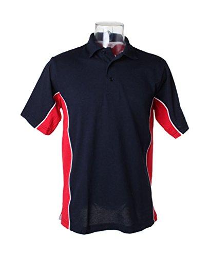 Kustom Kit–Gamegear Track Polo Shirt KK475Marine/Rot x-large