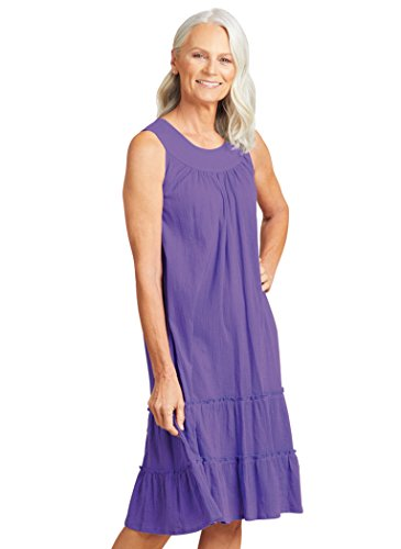 (AmeriMark Crinkle Gauze Sundress Purple )