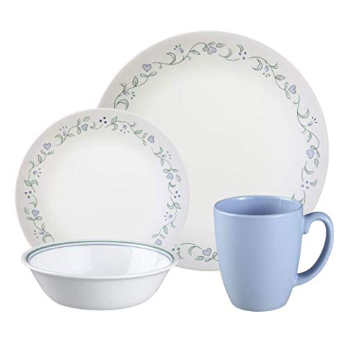 Corelle Livingware 16-Piece Dinnerware Set, Country Cottage, Service for 4 (Corelle Country Cottage Plates)