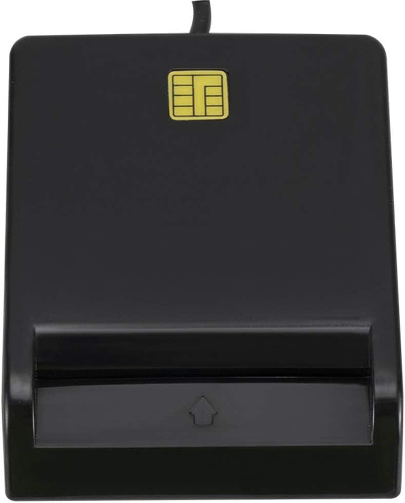 Mingtongli USB 2.0 Lector de Tarjetas Inteligente Lector de Tarjetas de cajero autom/ático Externo//IC//Electronic ID//CAC//Impuestos//Banco