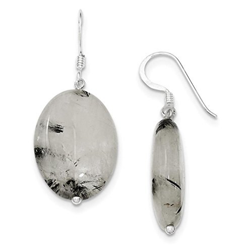 Quartz 925 Silver Hook Earrings - 6