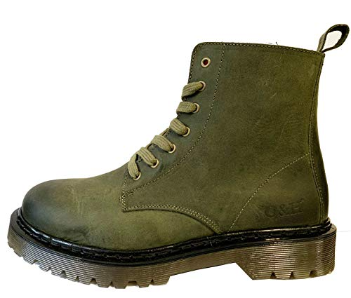 Green Hyde amp; Ankle Oak Brixton 7 Leather Rifle Boots 5XUdqdnW