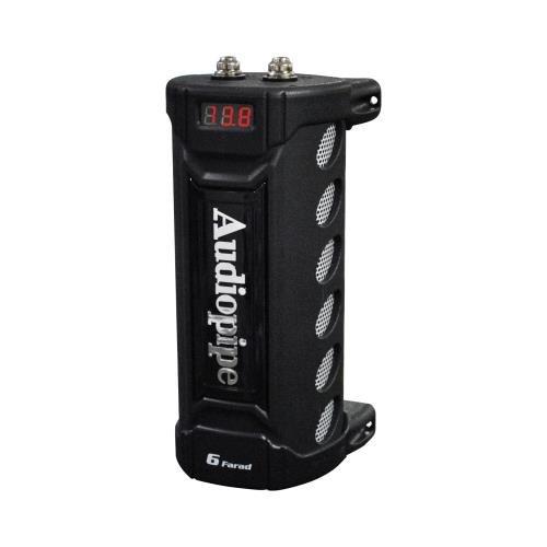 New Audiopipe ACAP-6000 6 Farad Power Car Audio Capacitor Digital Display Black (Farad Capacitor Car Audio)