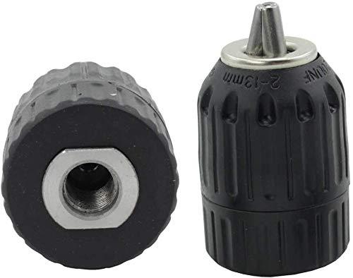mango SDS-Plus adaptador de rosca 1//2-20UNF Adaptador de portabrocas sin llave de 2-13 mm JT-13A mango hexagonal de 1//4 conector hembra cuadrado de manga de 1//2