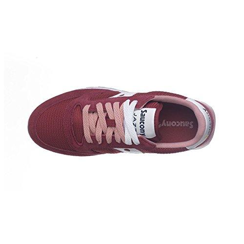 e Saucony Rojo mesh in rosso suede Jazz Sneaker agcqI7wZI