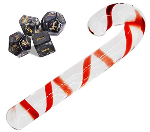 Bear boys Medical-Grade Candy Cane Crystal Glass Stick Dice Game Toy