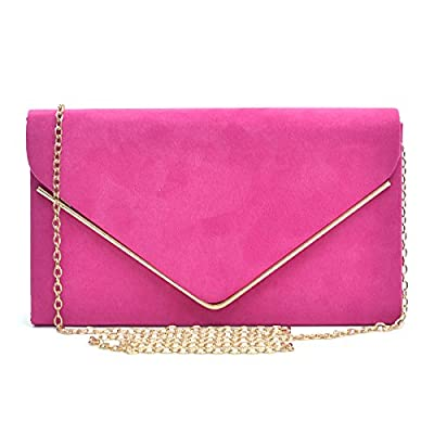 Dasein Ladies' Velvet Evening Clutch Bag Formal Party Clutch For Women With Chain Strap