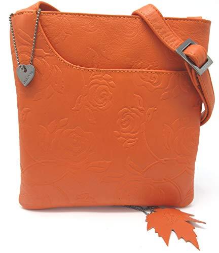 Josephine Osthoff Handtaschen-manufaktur, Borsa Une Tracolla Donna taille unique Arancione (papaye)