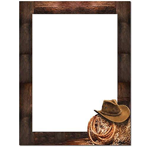 Cowboy Letterhead Letterhead Laser & Inkjet Printer Paper (100 Pack)