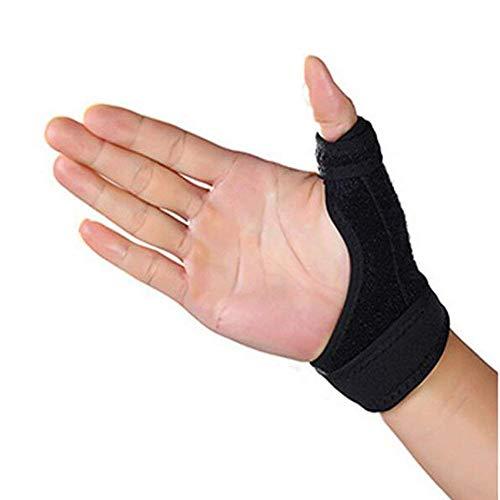 Thumb Splint, Thumb Wrist Brace Spica, CMC Splint Adjustable Neoprene Splint for Arthritis, De Quervain's, Carpal Tunnel Pain Relief, Reversible, Black ()