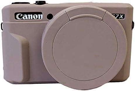 Zakao - Funda para cámara Canon PowerShot G7X G7 X Mark II (silicona, ligera, delgada, goma), color negro