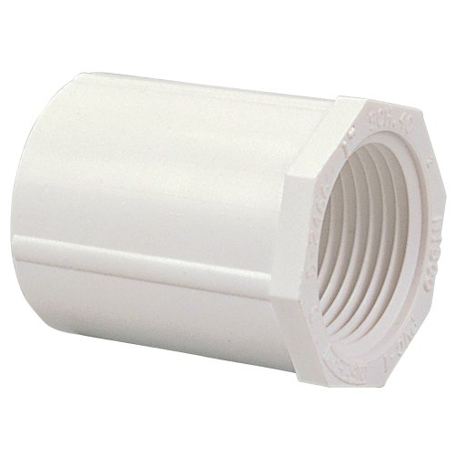 - NIBCO 435 Series PVC Pipe Fitting, Adapter, Schedule 40, 1-1/2