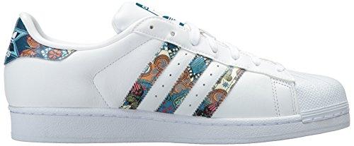 Adidas Womens Originaux Superstar Sarcelle Blanc / Blanc / Noble