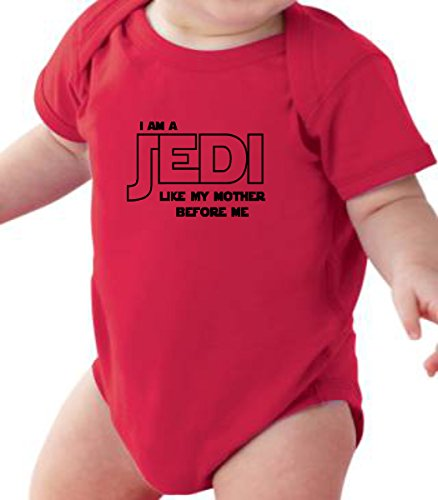 FNB Fashion I Am A Jedi - Funny Jedi Onesie Baby Unisex Romper Gift in Clear Poly Bag