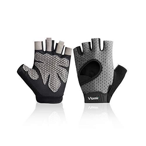 Viomir Ultralight Weight Lifting Gloves for Men & Women, Breathable & Non-Slip, Workout Gloves, Exercise Gloves, Padded Gym Gloves for Weightlifting, Climbing, Boating, Dumbbells, Cross Training